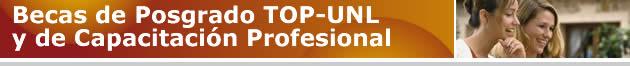 Becas de posgrado y capacitación TOP-UNL